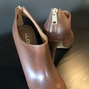 Aldo Shoes - Brown Leather High Heeled Booties